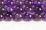 【天然石ビーズ連】【紫水晶】【2月誕生石】アメジストビーズ連6mm-4(ディープカラー/激安/透明度中)