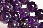 【天然石ビーズ連】【紫水晶】【2月誕生石】アメジストビーズ連10mm-5(ディープカラー/格安/透明度中)