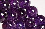 【天然石ビーズ連】【紫水晶】【2月誕生石】アメジストビーズ連12mm-6(ディープカラー/高品質/透明度中)