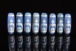 【ブルーアゲートベース天珠】青天珠長さ38mm前後(寶瓶天珠)-8