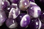 【1本あたり800円!】☆完璧なファントム☆紫も綺麗☆別名ケープアメジスト☆シェブロンアメジストブレスレット詰め合わせセット(10mm前後5本入り)-27