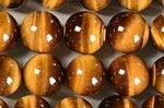 【天然石ビーズ連】☆金運・仕事運↑↑☆洞察力を高める☆タイガーアイ丸玉ビーズ12mmAA