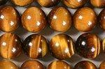 【天然石ビーズ連】☆金運・仕事運↑↑☆洞察力を高める☆タイガーアイ丸玉ビーズ10mmAA-