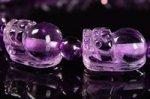 【天然石デザインブレスレット】☆11~13粒のヒキュウ型彫刻ビーズ使用★ラベンダーアメジスト★ヒキュウ型ブレスレット-46
