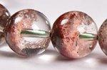 【運気超絶アップの天然石】中国ではトレジャーガーデン水晶という◎半分クリア半分ガーデン◎格安トレジャーガーデンクォーツブレスレット10mm-1