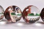 【運気超絶アップの天然石】中国ではトレジャーガーデン水晶という◎半分クリア半分ガーデン◎格安トレジャーガーデンクォーツブレスレット9.5-10mm-3