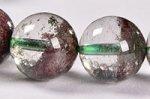 【運気超絶アップの天然石】中国ではトレジャーガーデン水晶という◎半分クリア半分ガーデン◎格安トレジャーガーデンクォーツブレスレット10mm-6
