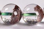 【運気超絶アップの天然石】中国ではトレジャーガーデン水晶という◎半分クリア半分ガーデン◎格安トレジャーガーデンクォーツブレスレット10-11mm-10