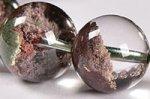 【運気超絶アップの天然石】中国ではトレジャーガーデン水晶という◎半分クリア半分ガーデン◎格安トレジャーガーデンクォーツブレスレット11-12mm-11