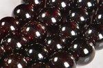【天然石ビーズ連】【1月誕生石】【インド産】【柘榴石】ガーネットビーズ連7-8mm