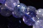 ★在庫追加★【プレミアム品質天然石】★美しいタンザナイトブルー★◎キューブ型タンザナイトブレスレット-12