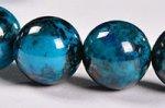 【まるで地球!】【大地との繋がりを強化する石】◎ディープブルー◎グリース産高品質クリソコラブレスレット約9.5mm-63