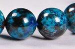 【まるで地球!】【大地との繋がりを強化する石】◎ディープブルー◎グリース産高品質クリソコラブレスレット約9.5mm-64