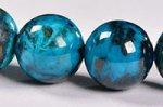 【まるで地球!】【大地との繋がりを強化する石】◎ディープブルー◎グリース産高品質クリソコラブレスレット約10mm-66