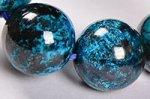 【まるで地球!】【大地との繋がりを強化する石】◎ディープブルー◎グリース産高品質クリソコラブレスレット約11.5mm-69