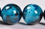 【まるで地球!】【大地との繋がりを強化する石】◎ディープブルー◎グリース産高品質クリソコラブレスレット約11.5mm-70