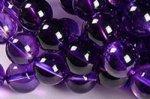 【信頼のウルグアイ産】【中/大サイズ厳選】☆色の濃さいろいろ★色に関係なくどちらも透明度抜群★☆ウルグアイ産アメジストブレスレット詰め合わせセット(7mm-11mm10本入り)-14