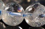 【天然クラック入り水晶】☆一部の玉に虹入り☆リビア産クラック入り水晶ブレスレット約11.5mm-17