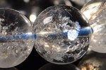 【天然クラック入り水晶】☆一部の玉に虹入り☆リビア産クラック入り水晶ブレスレット約13.5mm-26
