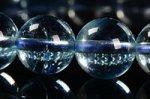 【3月誕生石】☆クリアでスカイブルー☆高透明度☆極上品質アクアマリンブレスレット1点もの約9mm-8