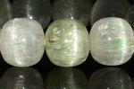 ☆夏に最適!☆透明度抜群☆キラキラ感抜群★淡緑色を帯びる★グリーンクンツァイト(ヒデナイト)変形丸玉ブレスレット-36