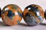 【油彩画/嵐のような天然石】☆格安美品☆ピーターサイトブレスレット約10.5-11mm-28
