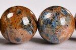 【油彩画/嵐のような天然石】☆格安美品☆ピーターサイトブレスレット約10.5-11mm-31