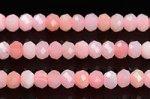 【小サイズ☆カット☆天然石ビーズ】★色が均一的★ベビーピンクからディープピンクカラー★ピンクオパールボタン型カットビーズ約3*4mm