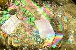 【レインボー入り天然石大玉】★財運アップ★【照射処理済み】【格安タイプ】レインボー入りシトリン大玉置物64mm-22