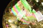 【レインボー入り天然石大玉】【財運アップ】★透明度抜群★夢幻的なレインボー入り★トップクォリティレインボー入りシトリン大玉置物38.6mm-25
