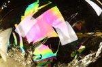 【レインボー入り天然石大玉】【財運アップ】★透明度抜群★夢幻的なレインボー入り★トップクォリティレインボー入りシトリン大玉置物38.9mm-27
