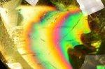 【レインボー入り天然石大玉】【財運アップ】★透明度抜群★夢幻的なレインボー入り★トップクォリティレインボー入りシトリン大玉置物52.7mm-36