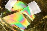 【レインボー入り天然石大玉】【財運アップ】★透明度抜群★夢幻的なレインボー入り★トップクォリティレインボー入りシトリン大玉置物53.6mm-37