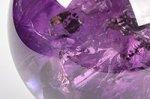 【レインボー入り天然石大玉】【愛の守護石】★希少★【トップクォリティ】レインボー入りウルグアイ産アメジスト大玉48.8mm-68