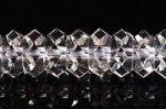 【店長一押し】【初入荷】【鑑別済み】★キラキラ感抜群★天然水晶20面カット約3*6.5mm
