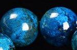 【宇宙から見る地球のよう】☆夢幻的な青色☆プレミアム品質クリソコラ大玉ブレスレット約13mm-13
