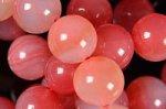 20%OFF【可愛い色合いの天然石】☆ナチュラルカラー☆アフリカ産ピンク系アゲートブレスレット約10mm詰め合わせセット(5本入り)-18