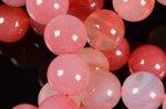 20%OFF【可愛い色合いの天然石】☆ナチュラルカラー☆アフリカ産ピンク系アゲートブレスレット約10mm詰め合わせセット(5本入り)-21