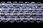 天然水晶丸玉64面カット4mmAA(約40cm)