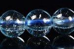 【夏に人気の天然石】☆スカイブルーカラー☆緑が少ない青色厳選☆透明度中☆トパーズブレスレット約6.5-7mm-3(照射処理)(加熱処理)