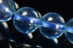 ★夏に人気の天然石★透明度中上☆淡い青色☆アクアマリンブレスレット約7.5mm-2