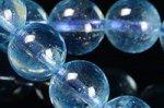 ★夏に人気の天然石★透明度中上☆淡い青色☆アクアマリンブレスレット約8mm-8