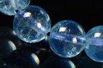 ★夏に人気の天然石★透明度中上☆淡い青色☆アクアマリンブレスレット約8mm-11
