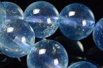★夏に人気の天然石★透明度中上☆淡い青色☆アクアマリンブレスレット約8.5mm-13