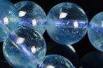 ★夏に人気の天然石★透明度中上☆淡い青色☆アクアマリンブレスレット約9mm-15
