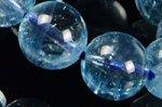 ★夏に人気の天然石★透明度中上☆淡い青色☆アクアマリンブレスレット約9.5mm-17