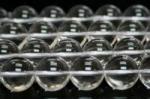 天然水晶丸玉14mmAグレード(約40cm)