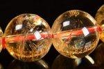 【財運・金運アップの石】☆激安★天然レインボー入り★シトリンブレスレット約10.5mm-9