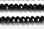 【天然石カットビーズ連】ブラックスピネルボタン型カットビーズ約4*5mm