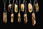 【大人気アイテム】【穴あきすぐPTタイプ】★グレードアップ★ナチュラルカラーシトリンルース詰め合わせセット(10個入り)-18 AA